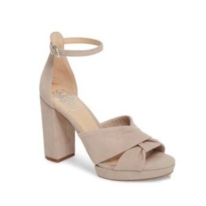Vince Camuto Corlesta Sandals Sz 10 Tipsy Taupe